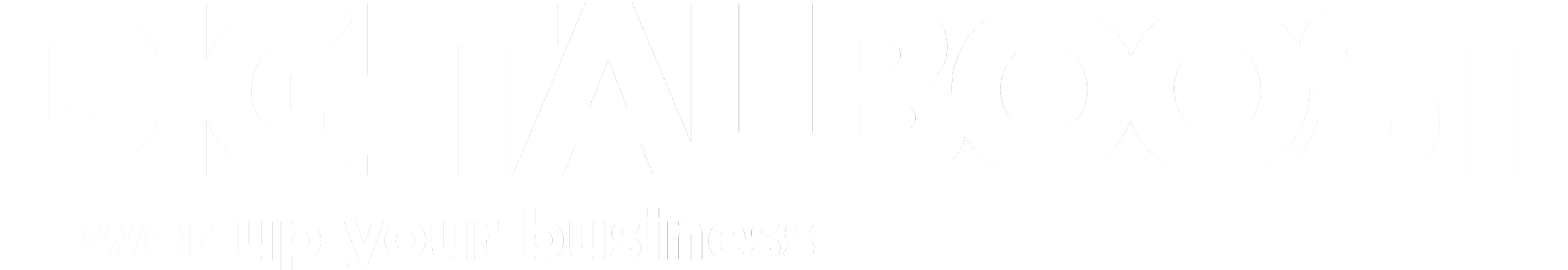 Digitalboost Logo Landscape Tagline White 2019 Update