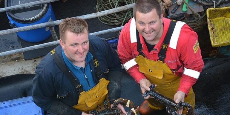 Donald Macleod And Finlay Ewan Macleod Scalpay Shellfish Crop